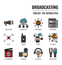 broadcasting vector image