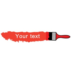 brush red vector image
