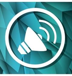 Bullhorn megaphone graphic design vector