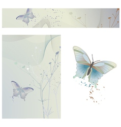 butterflies - wallpaper ready for use vector image