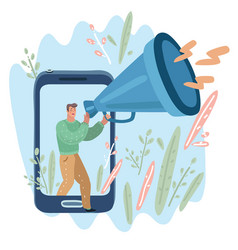 call through horn online alerting vector image