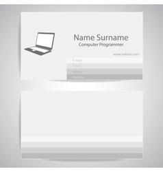 Calling card of computer programmer vector