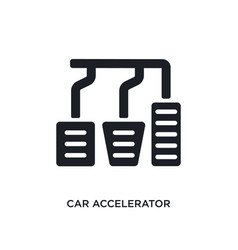 Car accelerator isolated icon simple element from vector
