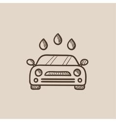 Car wash sketch icon vector image