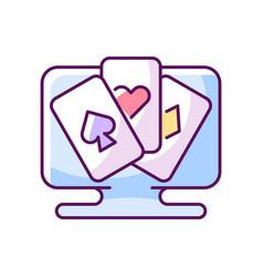 Card game rgb color icon vector