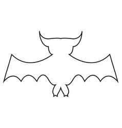 cartoon bat on white background vector image