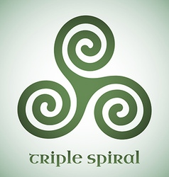 Celtic triple spiral vector image