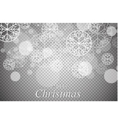 christmas ornaments made from snowflakes vector image