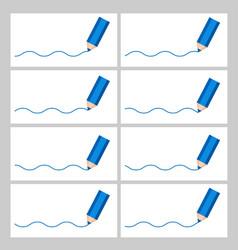 Color pencil drawing wave animation sprite sheet vector
