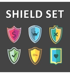 Colorful Shields vector
