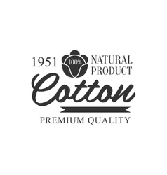 Cotton Black And White Product Logo Design vector image