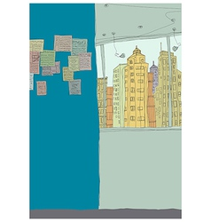Creative Interior Cityscape vector image