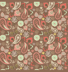 Cute graphical oriental paisley pattern with vector
