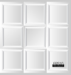 design white frames background vector image