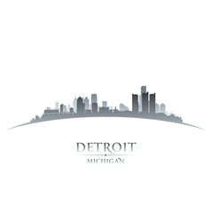 Detroit michigan city skyline silhouette vector