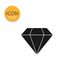 diamond icon isolated flat style vector image
