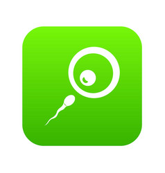 Donor sperm icon digital green vector