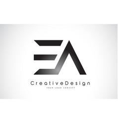 Ea e a letter logo design creative icon modern vector