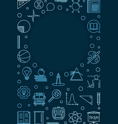 Education and school concept vertical blue vector