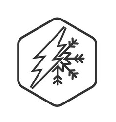 electric current and air conditioning icon vector image