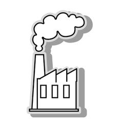 Factoy industry plant icon vector