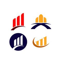 Finance company logo template design vector
