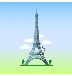 Flat design of Eiffel tower vector