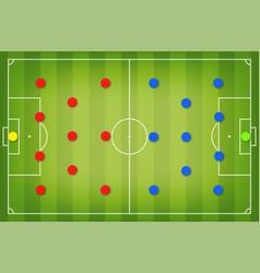 football tactic board magnetic board vector image