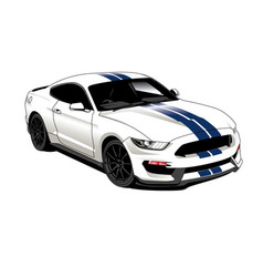 ford mustang vector image
