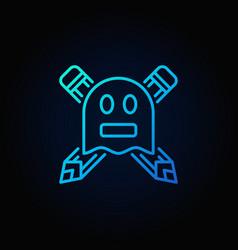 Ghostwriter blue concept icon vector