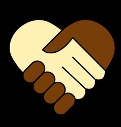 Hand shake vector image