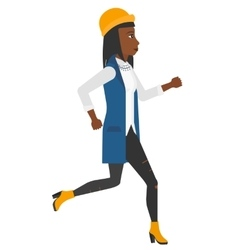 Happy woman jogging vector image