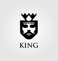 King logo designs with crown vector