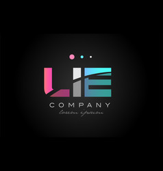 lie l i e three letter logo icon design vector image