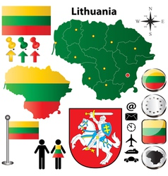 Lithuania map vector image
