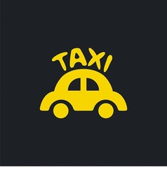 Logo for taxi company vector image