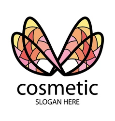 Logo in the form of multi colored wings vector