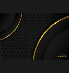 Luxury abstract background black gold simple and e vector