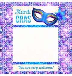 Mardi gras carnival poster template vector