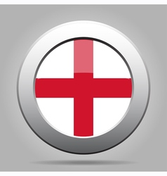 metal button with flag of England vector image vector image