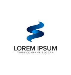 modern letter s 3d logo design concept template vector image