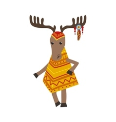 Moose Wearing Tribal Clothing vector