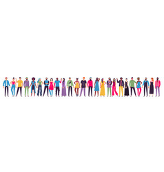 Multicultural people group adult citizens vector
