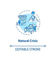 Natural crisis concept icon environmental issues vector