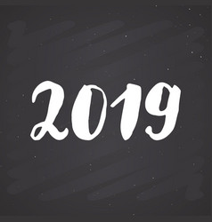 new year greeting card 2019 typographic greetings vector image