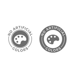 No artificial colors and dyes icon for skin and vector