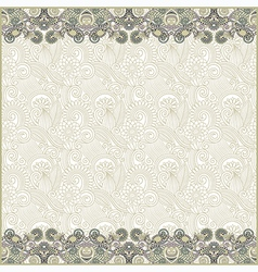 Ornate floral background with two ornament stripes vector