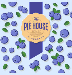 Packaging blueberry pie vector