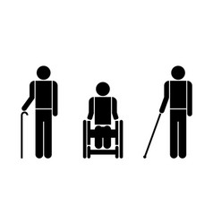 People with disabilities symbols vector