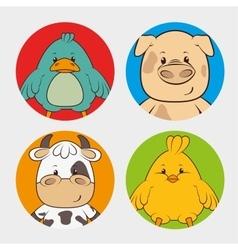 Pets and animals cartoons vector